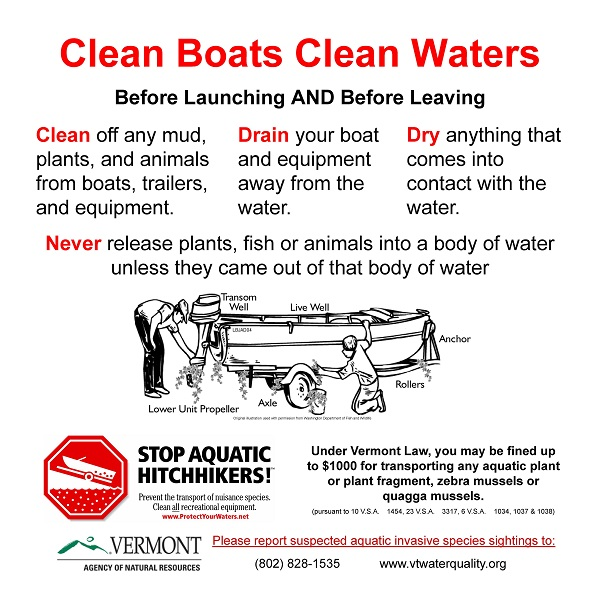 2' X 2' Clean, Drain, Dry boat ramp sign